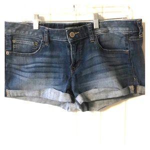Express stretch Jean shorts, size 10